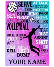 volleyball text custom pt lqt-ngt 11x17 Poster front
