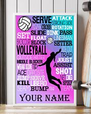 volleyball text custom pt lqt-ngt 11x17 Poster lifestyle-poster-4