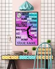 volleyball text custom pt lqt-ngt 11x17 Poster lifestyle-poster-6