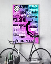 volleyball text custom pt lqt-ngt 11x17 Poster lifestyle-poster-7