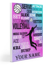 volleyball text custom pt lqt-ngt 20x30 Gallery Wrapped Canvas Prints thumbnail