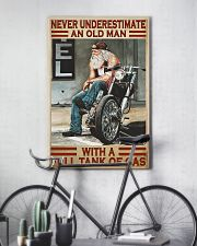 Never old man motocycle dvhd-pml 11x17 Poster lifestyle-poster-7