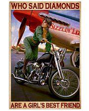 Diamond bike girl 11x17 Poster front