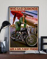 Diamond bike girl 11x17 Poster lifestyle-poster-2