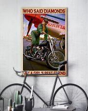 Diamond bike girl 11x17 Poster lifestyle-poster-7
