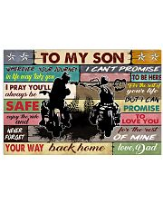 To my son biker 36x24 Poster front
