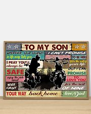 To my son biker 36x24 Poster poster-landscape-36x24-lifestyle-03