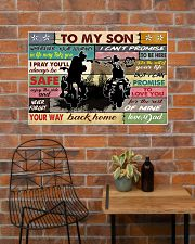 To my son biker 36x24 Poster poster-landscape-36x24-lifestyle-20