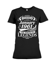 LIFE BEGINS IN JANUARY 1961 Premium Fit Ladies Tee thumbnail