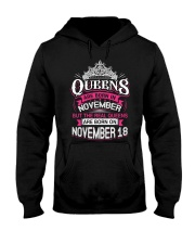 REAL QUEENS ARE BORN ON NOVEMBER 18 Hooded Sweatshirt front