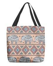 vintage indian elephant  All-over Tote front