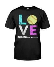 Love Softball t-shirt Classic T-Shirt front