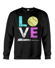 Love Softball t-shirt Crewneck Sweatshirt thumbnail