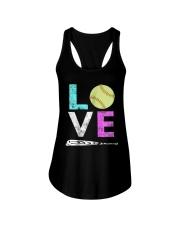 Love Softball t-shirt Ladies Flowy Tank thumbnail