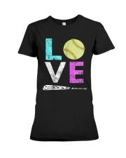 Love Softball t-shirt Premium Fit Ladies Tee thumbnail