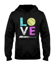Love Softball t-shirt Hooded Sweatshirt thumbnail
