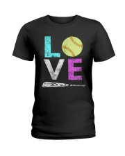 Love Softball t-shirt Ladies T-Shirt thumbnail