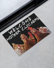 """WELCOME MOTHER CLUCKERS Doormat 22.5"""" x 15""""  aos-doormat-22-5x15-lifestyle-front-09"""