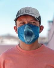 Funny Shark Face Cloth face mask aos-face-mask-lifestyle-06