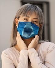 Funny Shark Face Cloth face mask aos-face-mask-lifestyle-17