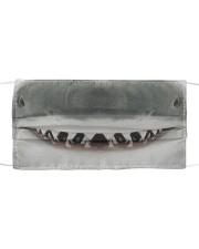 Shark Face  Cloth face mask front