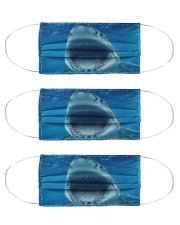 Funny Shark Face Cloth Face Mask - 3 Pack front