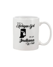 JUST A MICHIGAN GIRL IN An INDIANA WORLD Mug thumbnail