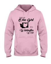 JUST An OHIO GIRL IN A WASHINGTON WORLD Hooded Sweatshirt tile