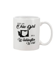 JUST An OHIO GIRL IN A WASHINGTON WORLD Mug tile