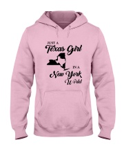 JUST A TEXAS GIRL IN A NEW YORK WORLD Hooded Sweatshirt front