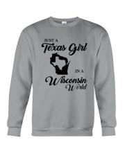 JUST A TEXAS GIRL IN A WISCONSIN WORLD Crewneck Sweatshirt thumbnail
