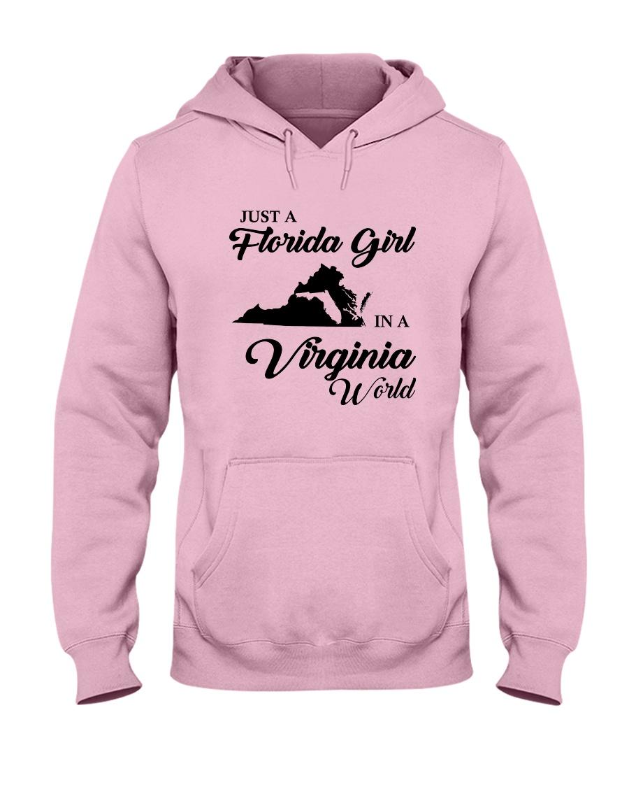 JUST A FLORIDA GIRL IN A VIRGINIA WORLD Hooded Sweatshirt
