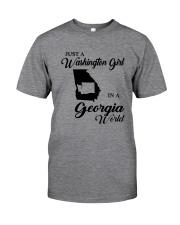 JUST A WASHINGTON GIRL IN A GEORGIA WORLD Classic T-Shirt thumbnail