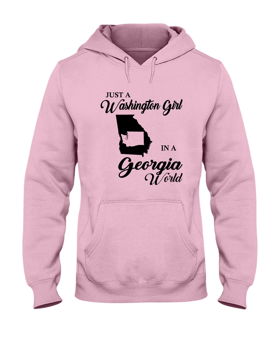 JUST A WASHINGTON GIRL IN A GEORGIA WORLD Hooded Sweatshirt
