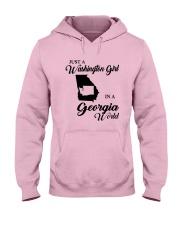 JUST A WASHINGTON GIRL IN A GEORGIA WORLD Hooded Sweatshirt front