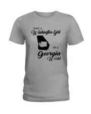 JUST A WASHINGTON GIRL IN A GEORGIA WORLD Ladies T-Shirt thumbnail
