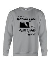 JUST A FLORIDA GIRL IN A NORTH DAKOTA WORLD Crewneck Sweatshirt thumbnail