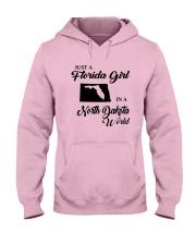 JUST A FLORIDA GIRL IN A NORTH DAKOTA WORLD Hooded Sweatshirt front