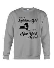 JUST A LOUISIANA GIRL IN A NEW YORK WORLD Crewneck Sweatshirt thumbnail