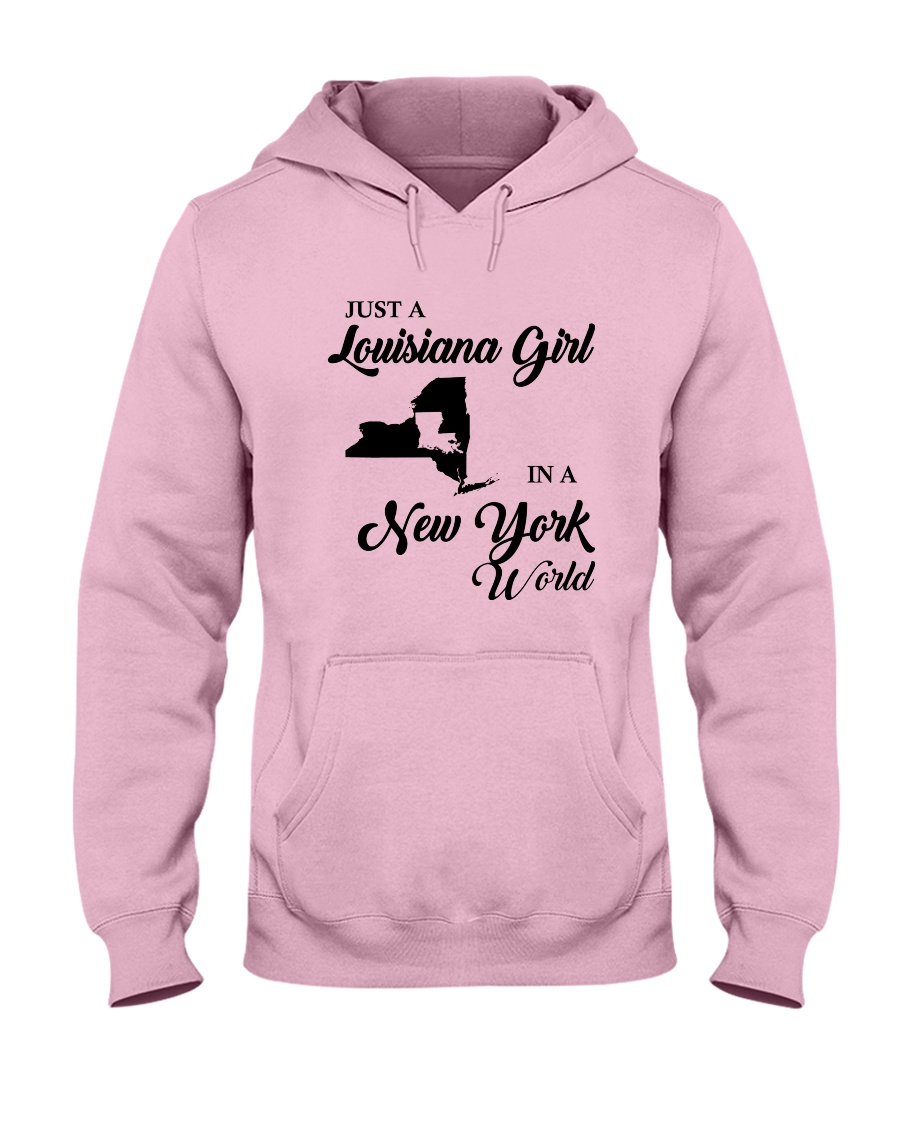 JUST A LOUISIANA GIRL IN A NEW YORK WORLD Hooded Sweatshirt