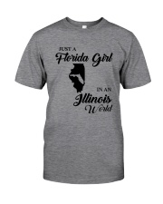 JUST A FLORIDA GIRL IN A ILLINOIS WORLD Classic T-Shirt tile