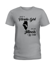 JUST A FLORIDA GIRL IN A ILLINOIS WORLD Ladies T-Shirt tile