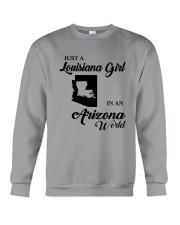 JUST A LOUISIANA GIRL IN AN ARIZONA WORLD Crewneck Sweatshirt thumbnail