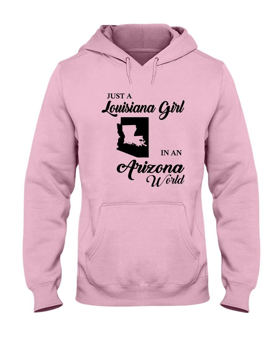 JUST A LOUISIANA GIRL IN AN ARIZONA WORLD Hooded Sweatshirt