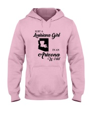 JUST A LOUISIANA GIRL IN AN ARIZONA WORLD Hooded Sweatshirt front