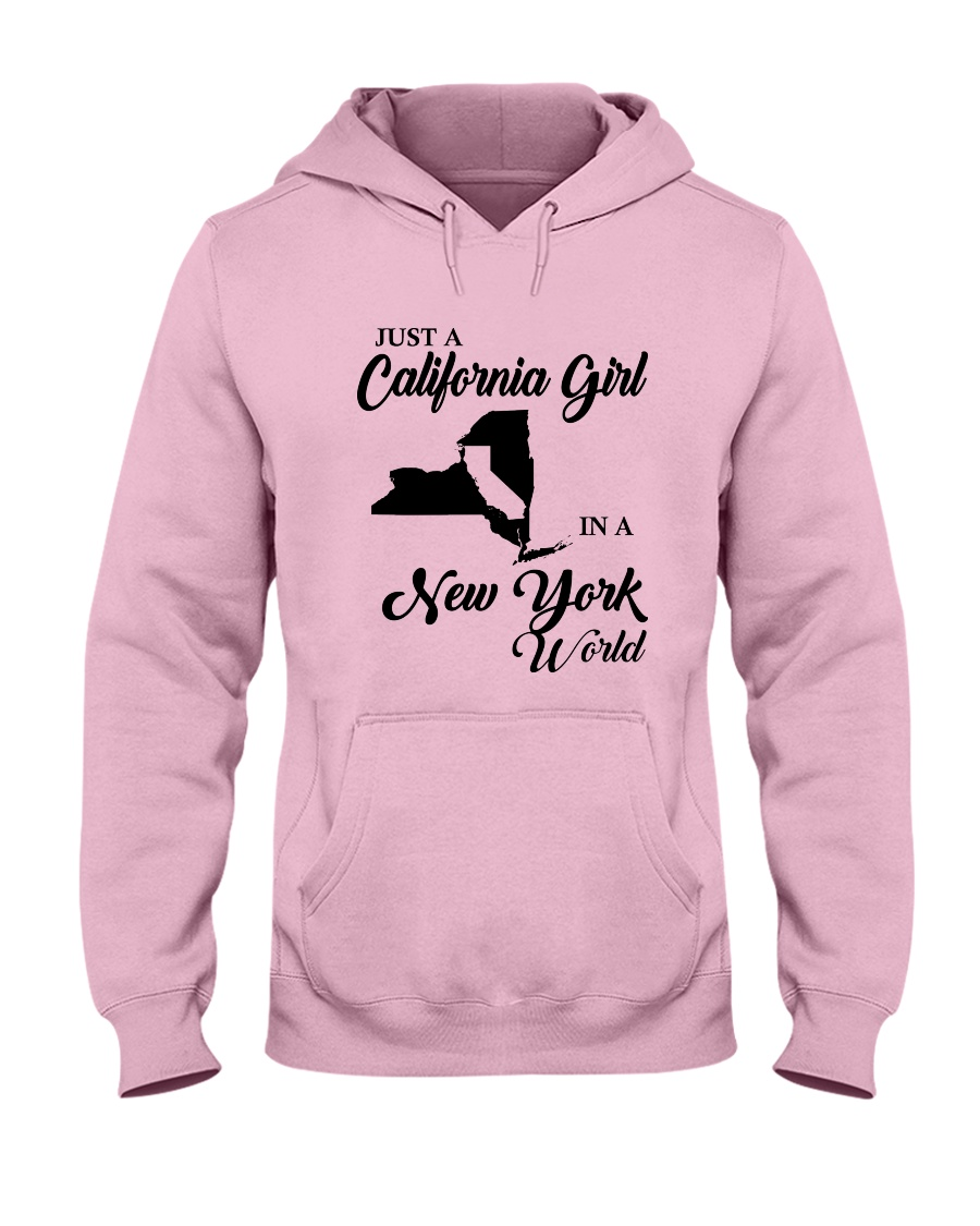 JUST A CALIFORNIA GIRL IN A NEW YORK WORLD Hooded Sweatshirt