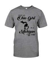 JUST An OHIO GIRL IN A MICHIGAN WORLD Classic T-Shirt thumbnail