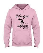 JUST An OHIO GIRL IN A MICHIGAN WORLD Hooded Sweatshirt front