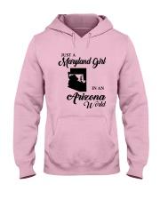 JUST A MARYLAND GIRL IN An ARIZONA WORLD Hooded Sweatshirt front