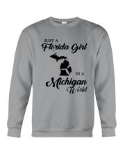 JUST A FLORIDA GIRL IN A MICHIGAN WORLD Crewneck Sweatshirt thumbnail